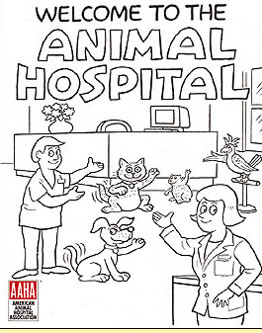 Welcome To The Animal Hospital Educational Coloring Book From Custom Comic Services